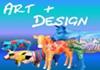 Atelier Silke Bölts- Designer-Schweine & Designer-Kühe, GFK-Design