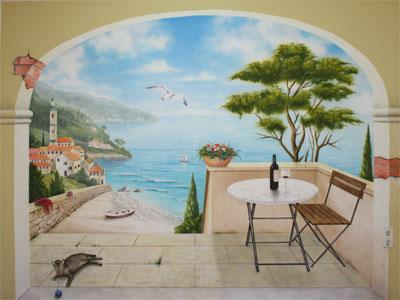Wandmalerei und Illusionsmalerei
