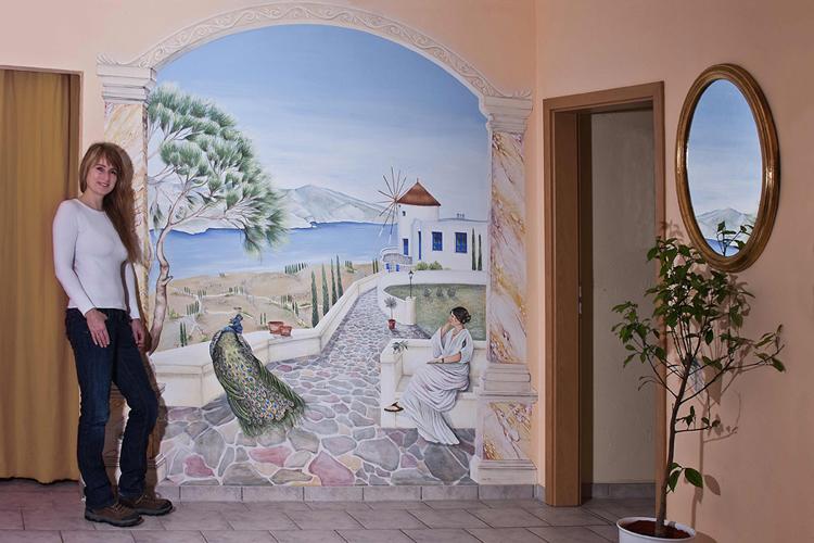 Wandmalerei wandmaler und wandmalerei video - Wandmalerei ideen ...