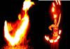 Feuershows zu verschieden Musikrichtungen